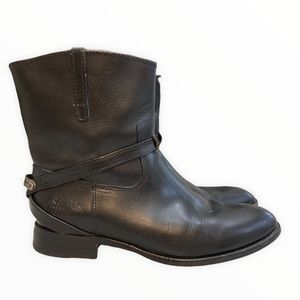 Frye Lindsay Plate Leather Short Riding Boots